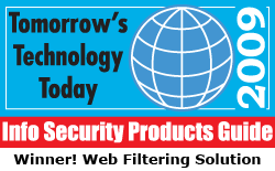 Winner! Web Filtering Solution - 2009 Tomorrow's Tech Today